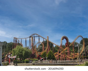 Plailly France - 07 24 2021 - attraction of Parc Asterix near Paris