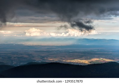 plain of alsace and black forest view of vosges