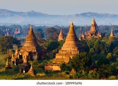 The plain of Bagan(Pagan), Mandalay, Myanmar