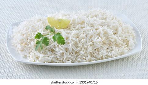 Plain boiled rice