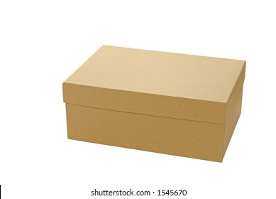 Plain brown box with lid closed