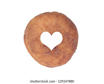 Plain donuts isolated against a white background