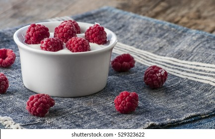 Plain Greek Yogurt with Raspberries