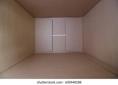 In a plain paper box