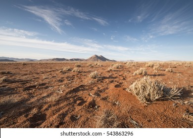 plain with red sand of Namib desert, Tiras Mountains, Namibia, Africa