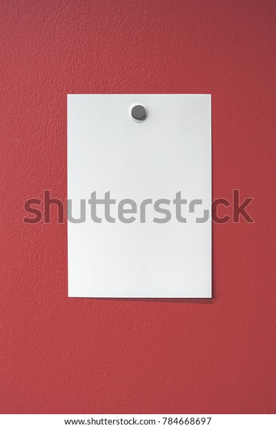 Plain Sheet White Paper Affixed Bright Backgrounds Textures Stock Image 784668697