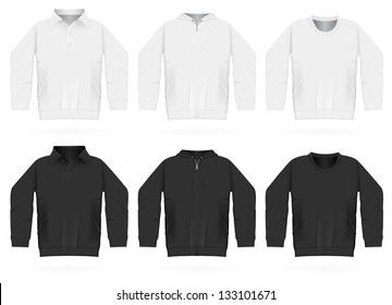 Plain training hooded sweatshirt, long sleeve jacket, shirt.