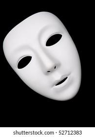 Plain white mask for drama