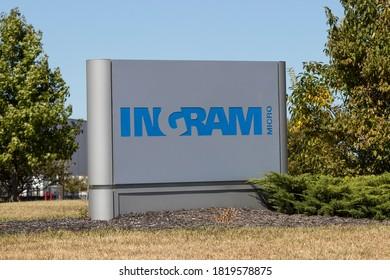Plainfield - Circa September 2020: Ingram Micro Mobility warehouse. Ingram Micro resells IT products.
