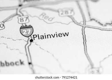 Plainview. USA on a map.