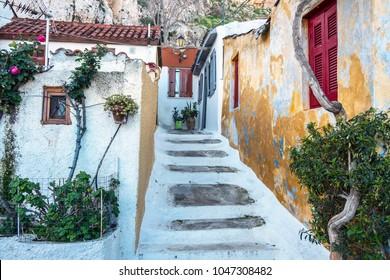 Plaka area in Athens, Greece.