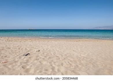 Plaka beach in Naxos island Greece