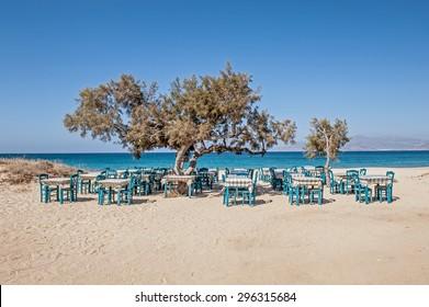 Plaka beach Naxos island Greece
