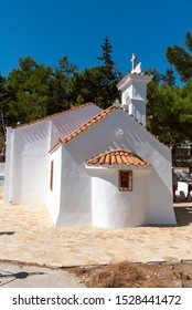 Plaka, Crete, Greece. October 2019.  The Saint Marina church in Plaka, Crete, Greece.