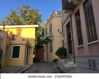Plaka, old historical neighborhood of Athens, around the northern and eastern slopes of the Acropolis