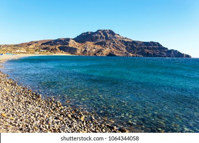 Plakias Bay and its beach on the south coast of the Greek island of Crete