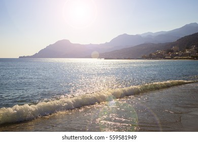 Plakias beach at Crete island. Greece