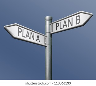 plan a or b backup or alternative strategy chose solution