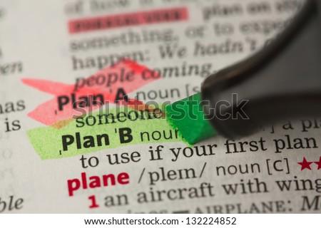 Plan B Definition Highlighted Green Plan Stock Photo (Royalty Free ...