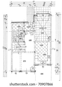 Blueprint background stock photos images photography shutterstock a plan drawing of a building including details equipment furniture malvernweather Image collections