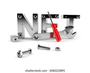 .NET plan isolated on white background. 3d illustration