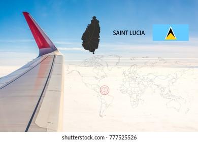 Saint Lucia Map Images Stock Photos Vectors Shutterstock