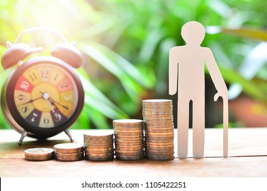 plan saving coins money increase to high profit interest for concept investment mutual fund finance and pension retirement