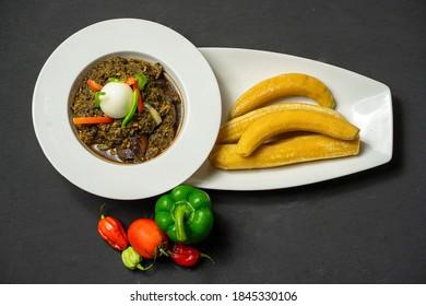 plan view of local ghanaian dish,