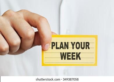 Plan Your Week !
