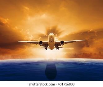 plane flying over sky