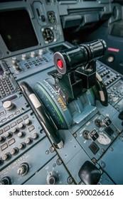 plane inside the cockpit closeup