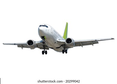Plane isolated on a clean white background.