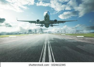 Plane in landing