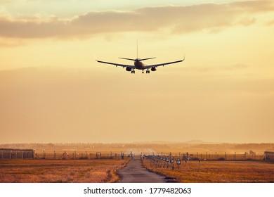 Plane Landscape surise sunset yellow