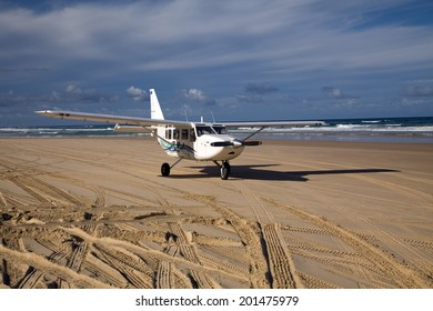 Plane on the beach