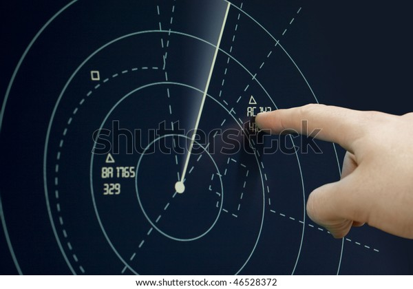 Plane on radar