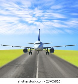 Plane on a runway