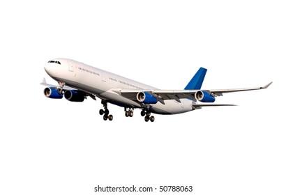 Plane on white. Airbus A-340