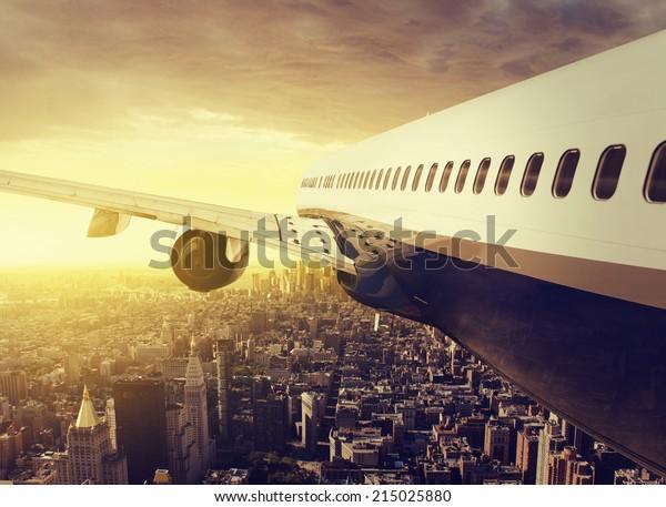 Plane over NY