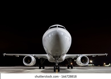 plane parked at airport