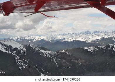 Plane ride over Alaskan Glaciers