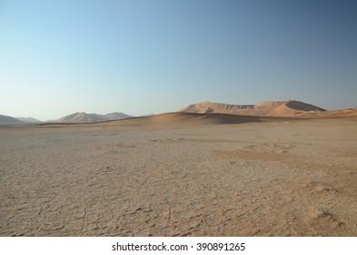 Plane and sand dunes
