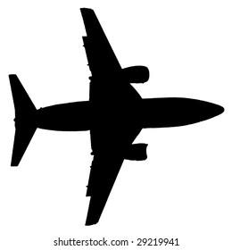 plane silhouette - Shutterstock ID 29219941