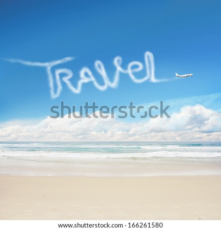 plane sky drawing word travel stock photo edit now 166261580