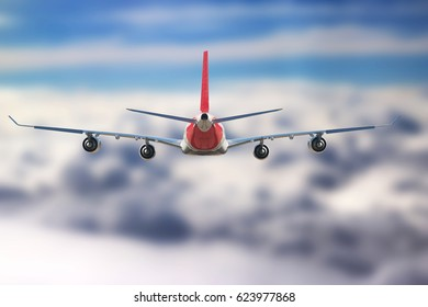 Plane in the sky flight sun sunshine travel transport airplane background nature