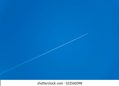 plane with a vapour trail