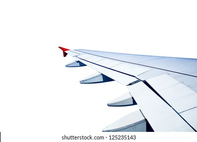 plane wing isolated on white background