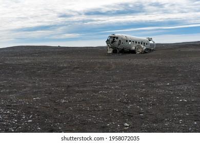 Sólheimasandur Plane Wreck on lava field