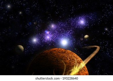 Planet Deep in Space, galaxy and universe. Element of this image furnished by NASA