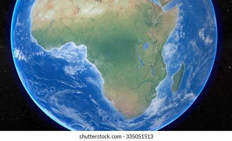 Planet Earth 3D Snapshot of The African Continent. Elements of this image furnished by NASA